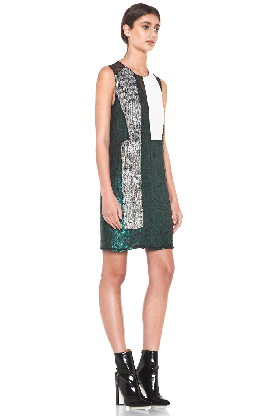 Image 3 of 3.1 phillip lim Collage Dress in Emerald