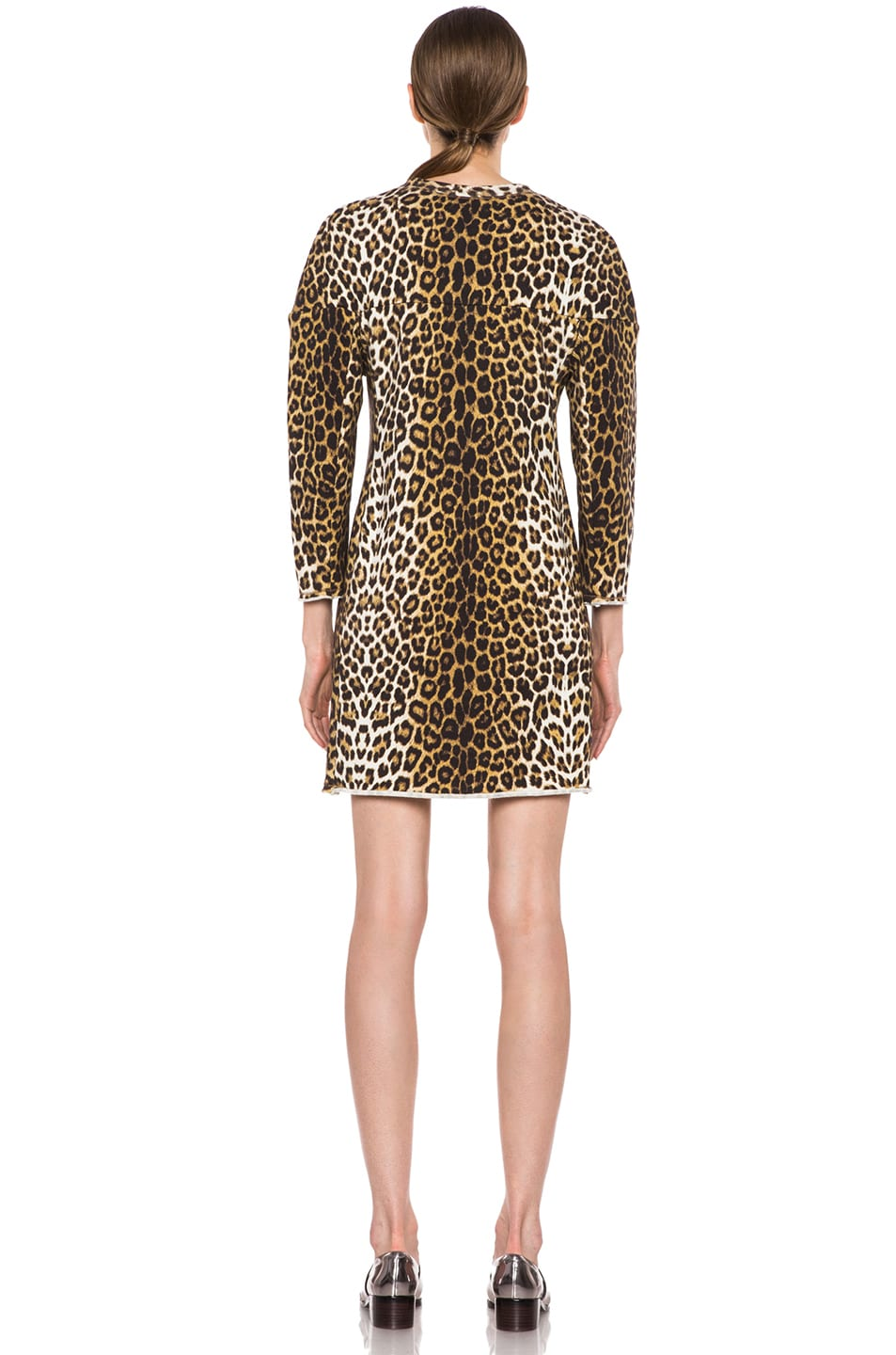 Image 4 of 3.1 phillip lim Rounded Shoulders Sculpted Cotton Dress in Leopard