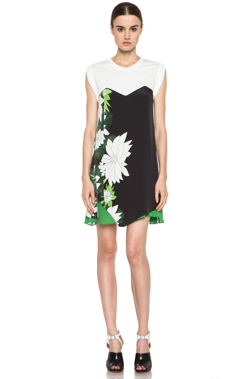 Image 1 of 3.1 phillip lim Tromploeil Layered Tee Dress in Black
