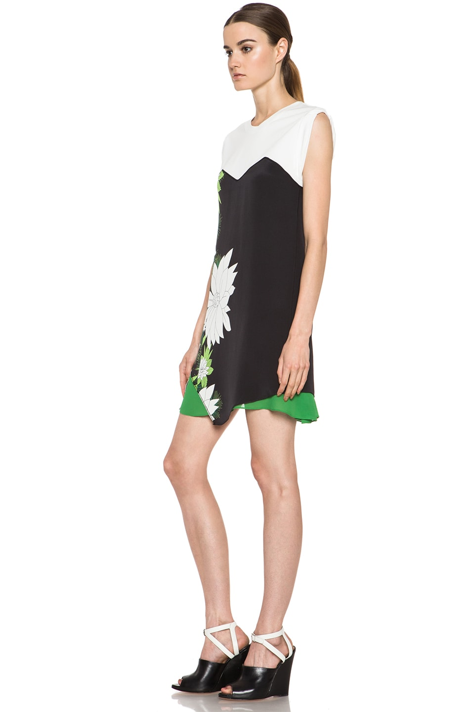 Image 2 of 3.1 phillip lim Tromploeil Layered Tee Dress in Black