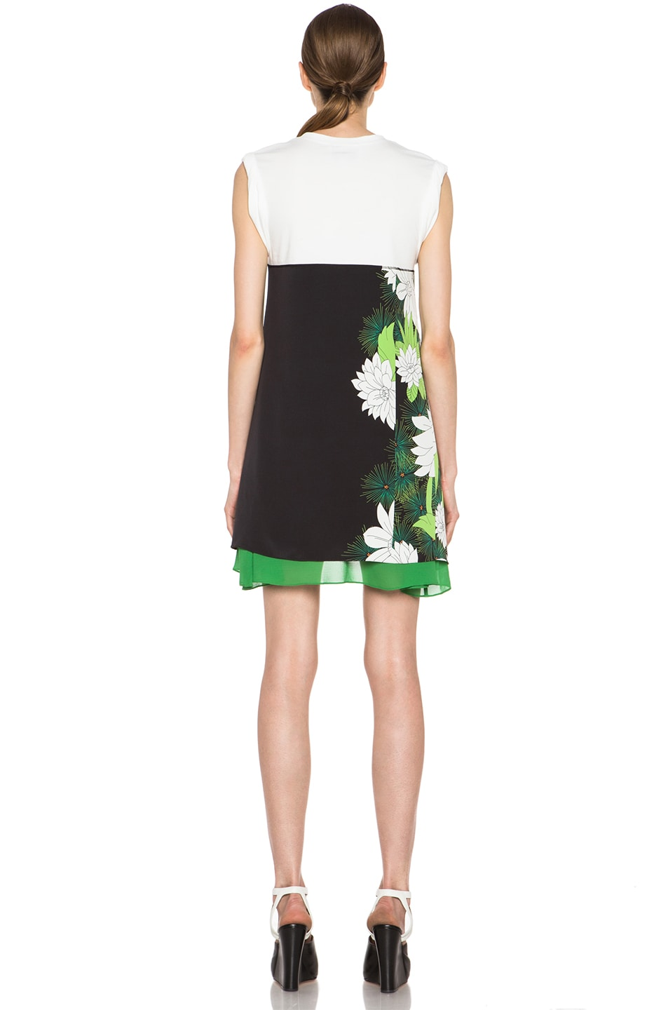 Image 4 of 3.1 phillip lim Tromploeil Layered Tee Dress in Black