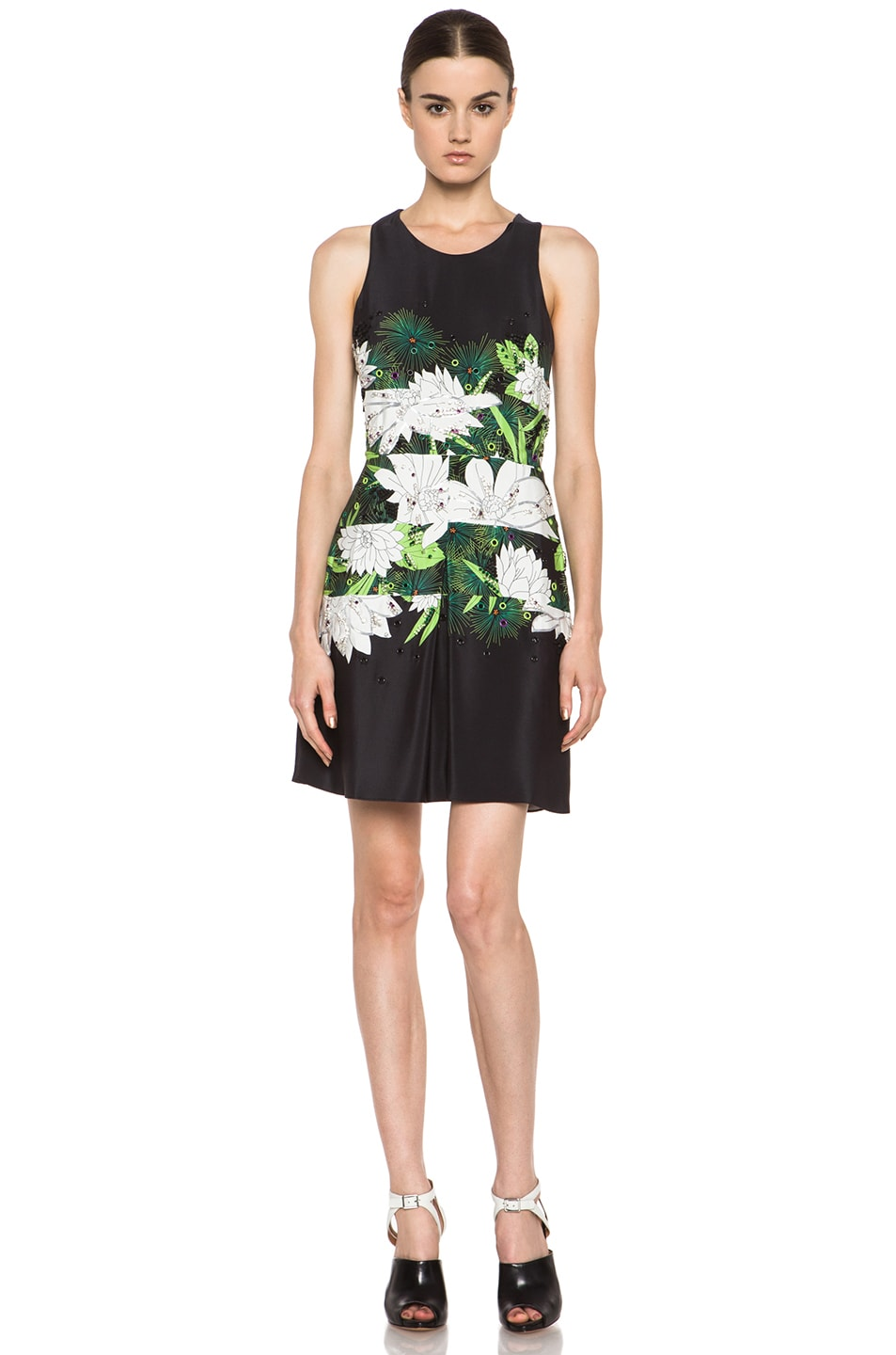 Image 1 of 3.1 phillip lim Embellished Crossback Halter Dress in Black