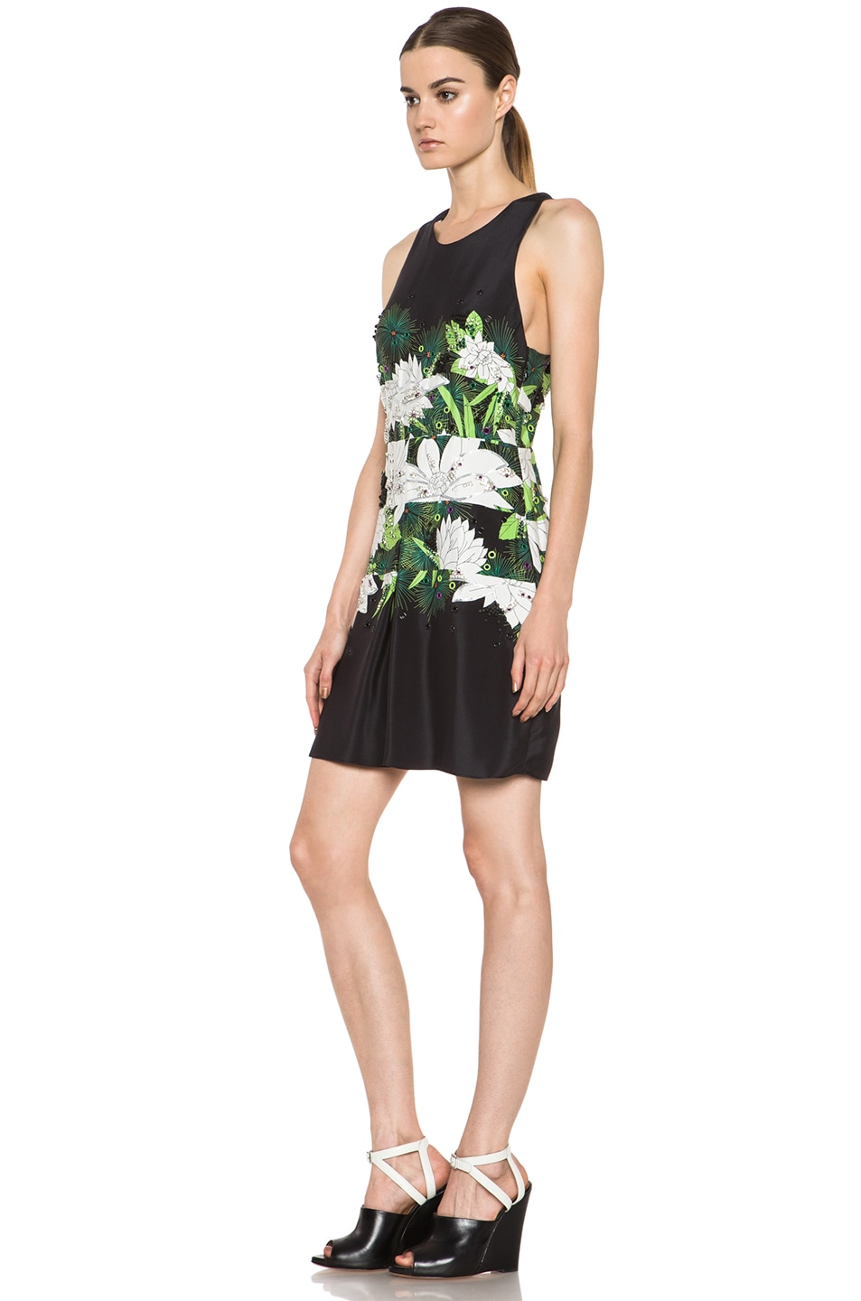 Image 2 of 3.1 phillip lim Embellished Crossback Halter Dress in Black