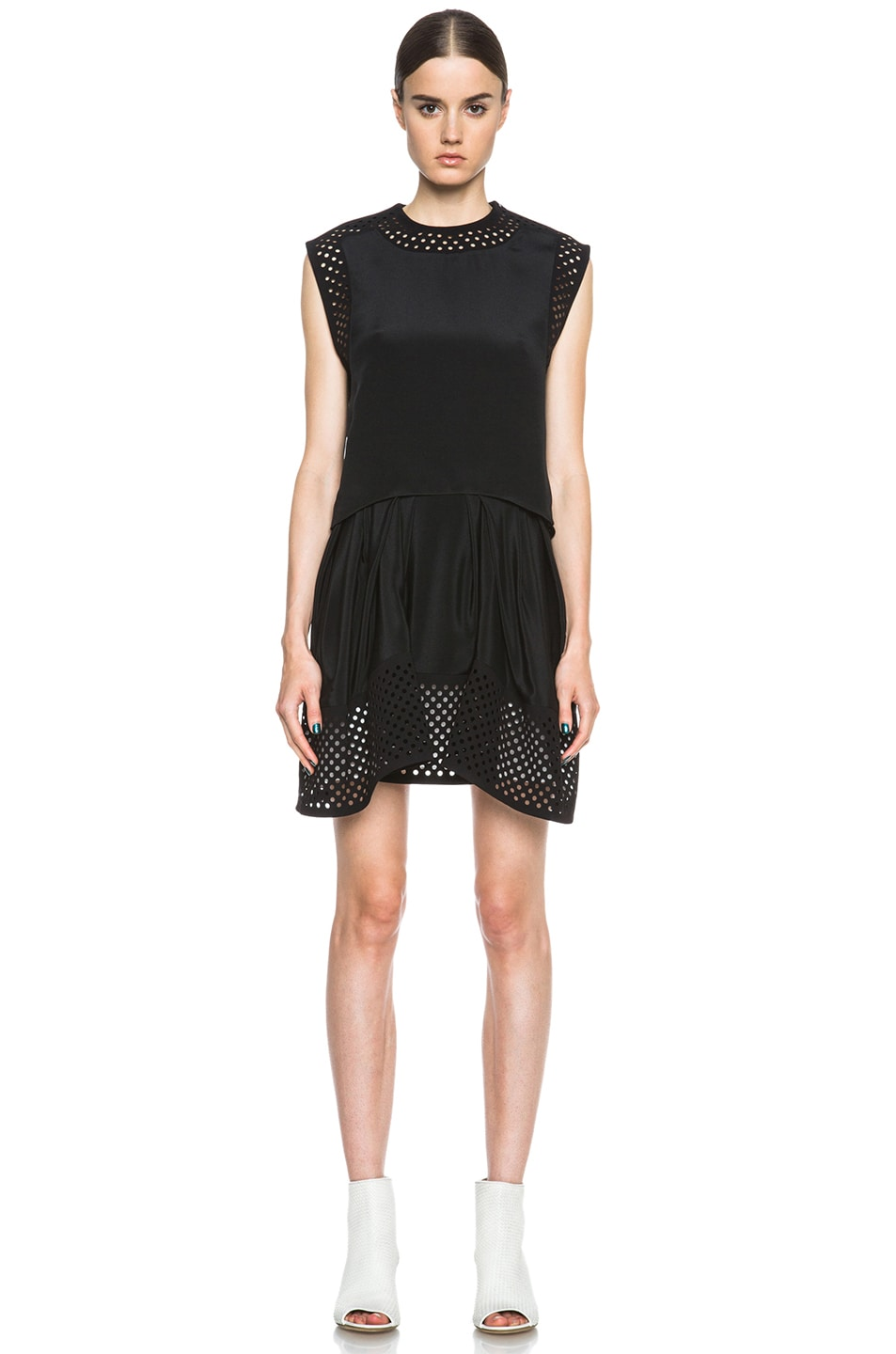 Image 1 of 3.1 phillip lim Laser Cut Silk Dress in Black