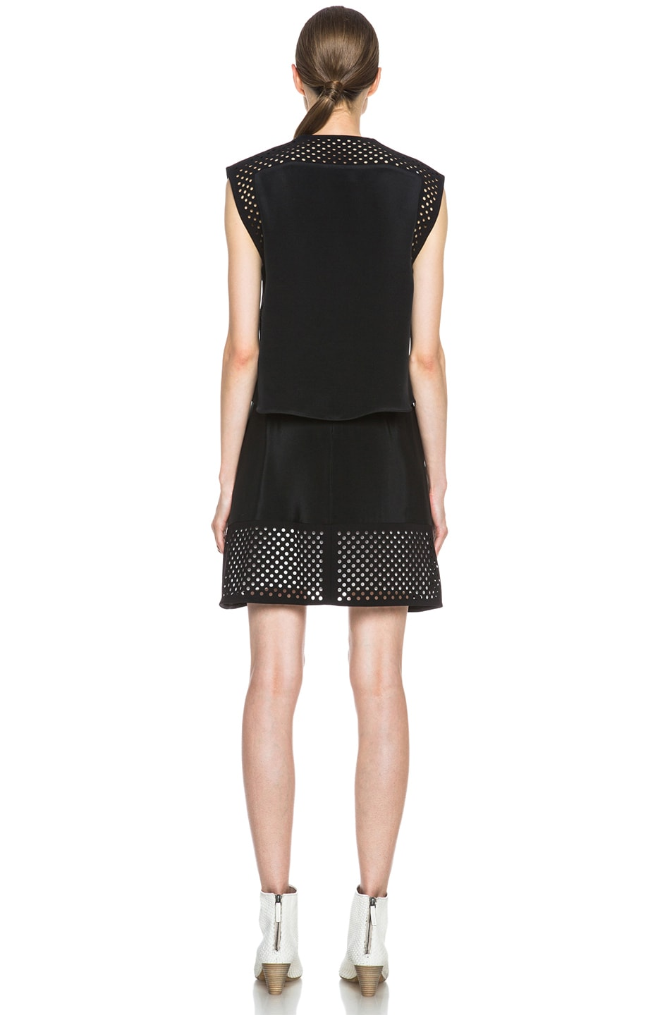 Image 4 of 3.1 phillip lim Laser Cut Silk Dress in Black