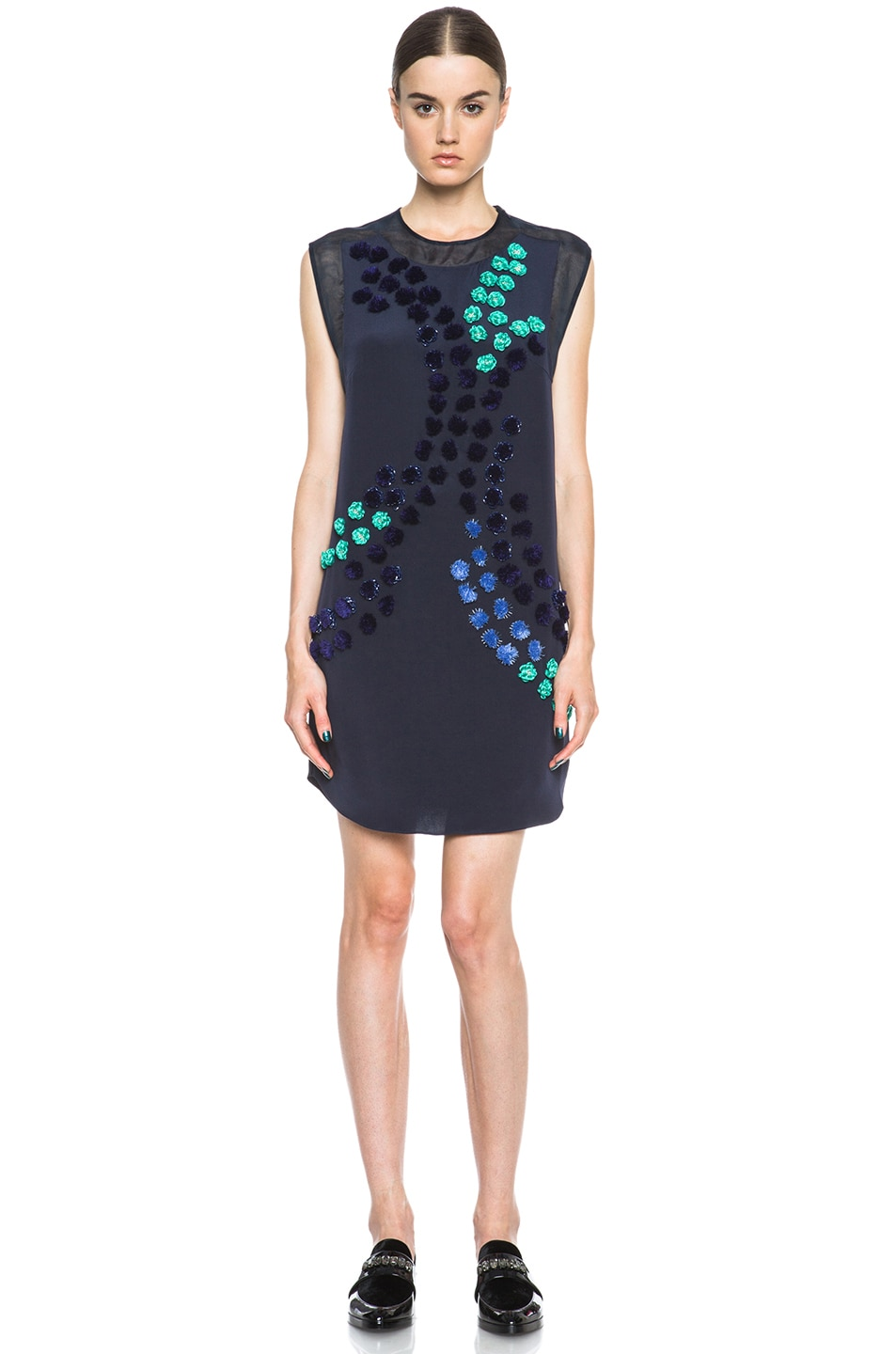 Image 1 of 3.1 phillip lim Dandelion Silk Dress in Midnight