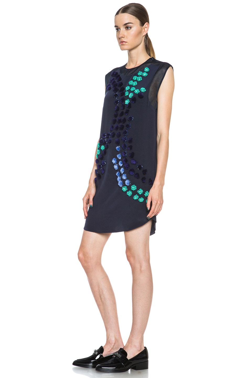 Image 2 of 3.1 phillip lim Dandelion Silk Dress in Midnight