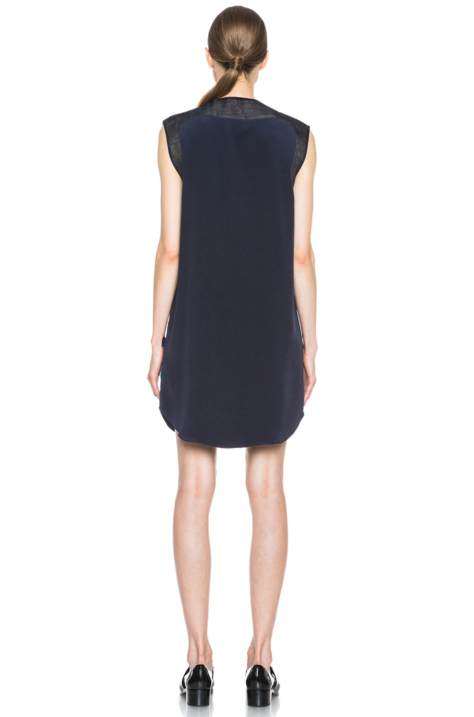 Image 4 of 3.1 phillip lim Dandelion Silk Dress in Midnight