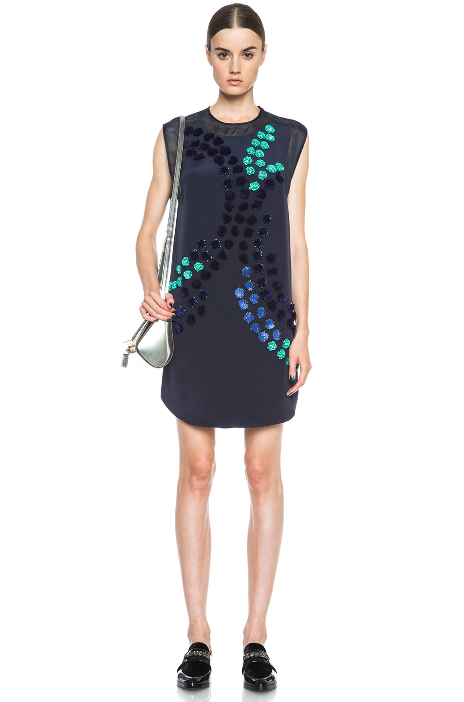 Image 5 of 3.1 phillip lim Dandelion Silk Dress in Midnight