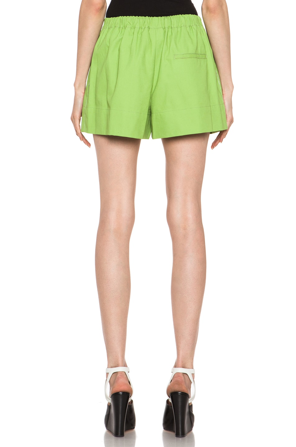 Image 4 of 3.1 phillip lim Bloomer Linen-Blend Short in Avocado Sld