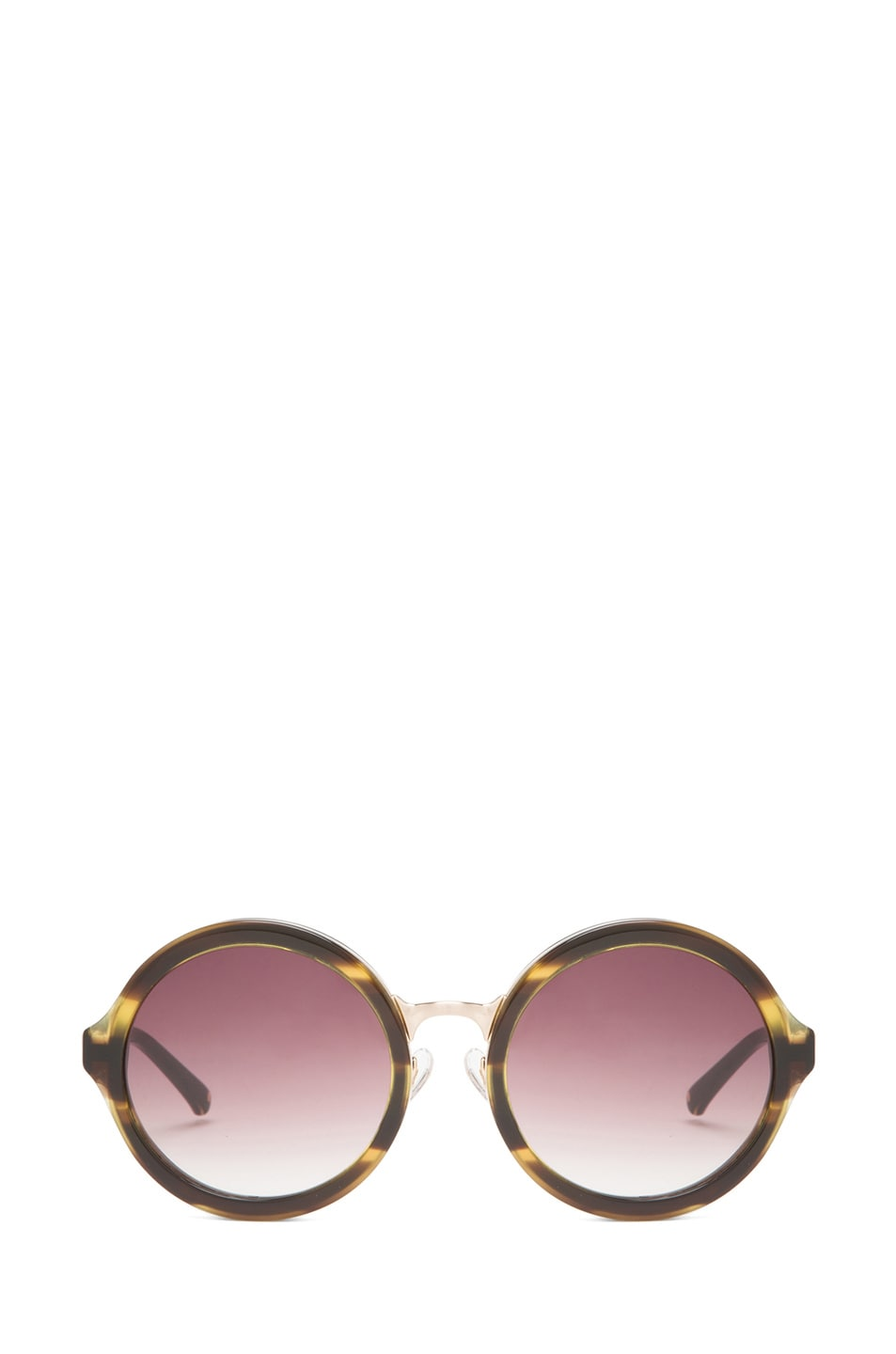 Image 1 of 3.1 Phillip Lim Circle Sunglasses in Tiger Eye