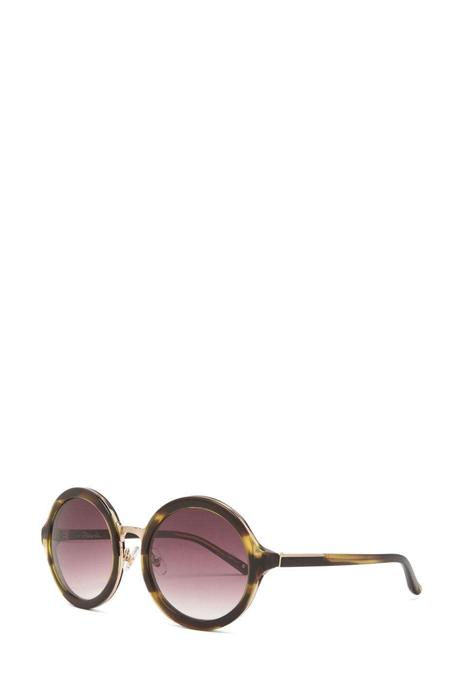 Image 2 of 3.1 Phillip Lim Circle Sunglasses in Tiger Eye