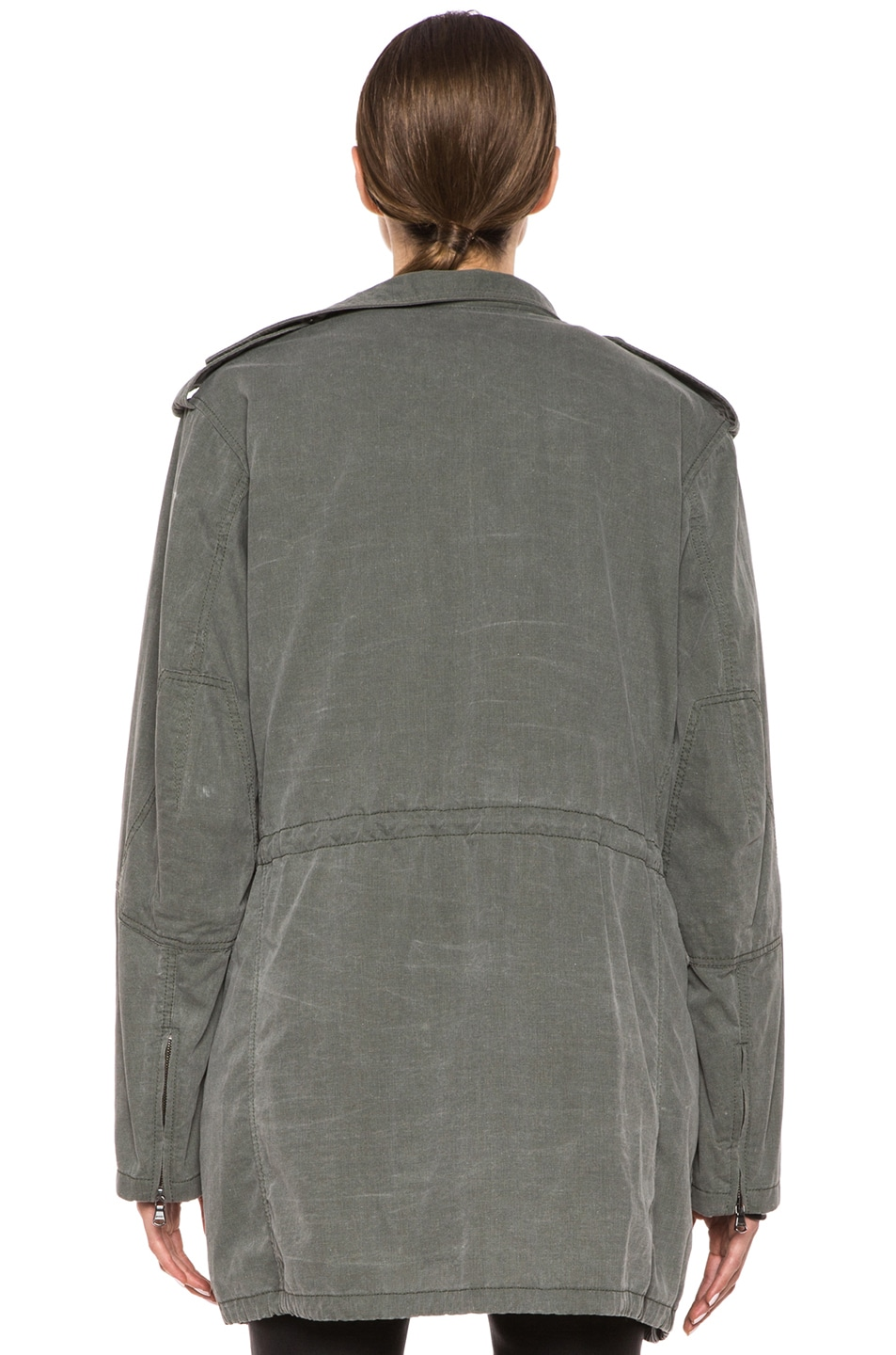 Image 5 of 3.1 phillip lim Trompl'eoil Cotton Layered Parka in Army Green