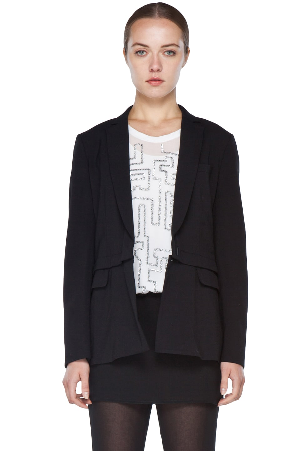 Image 1 of 3.1 phillip lim Blazer with Detachable Lower Panel in Black