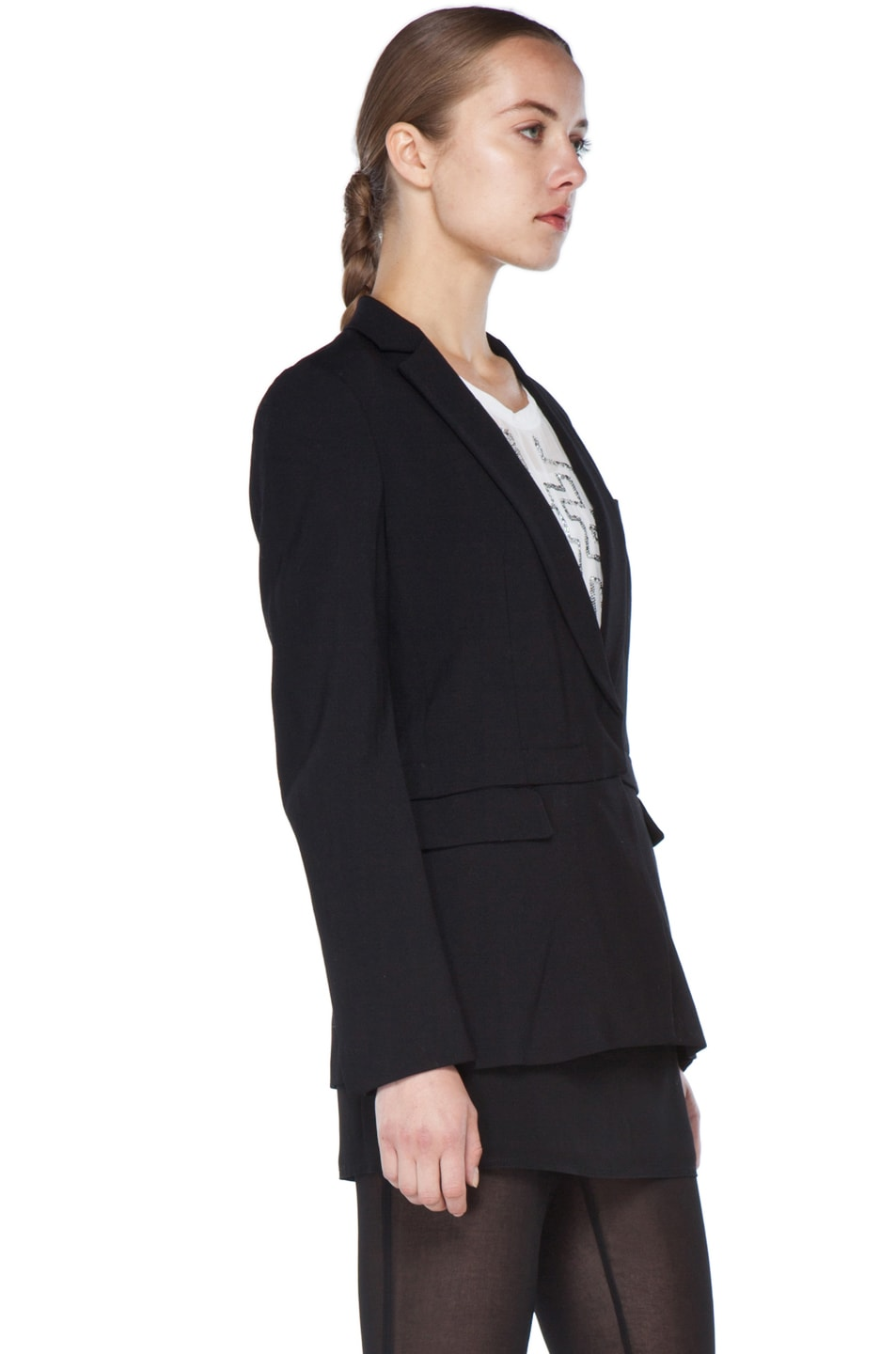 Image 6 of 3.1 phillip lim Blazer with Detachable Lower Panel in Black