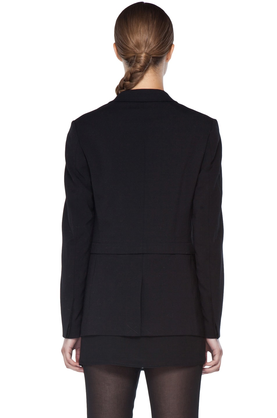 Image 7 of 3.1 phillip lim Blazer with Detachable Lower Panel in Black