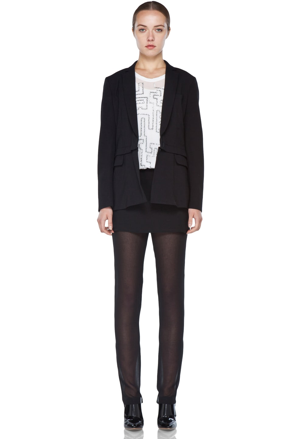 Image 8 of 3.1 phillip lim Blazer with Detachable Lower Panel in Black