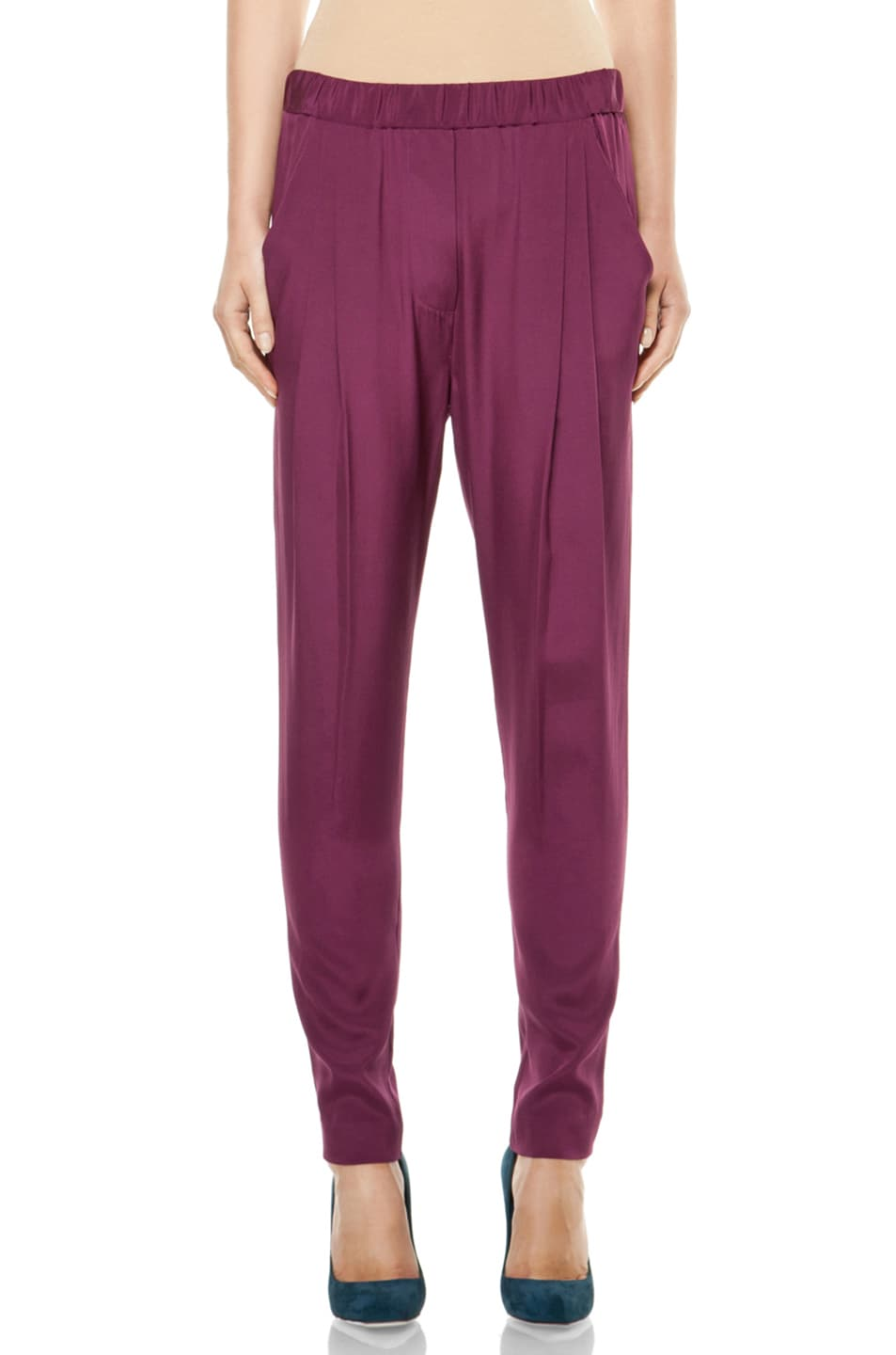 Image 1 of 3.1 phillip lim Draped Pocket Trouser in Berry
