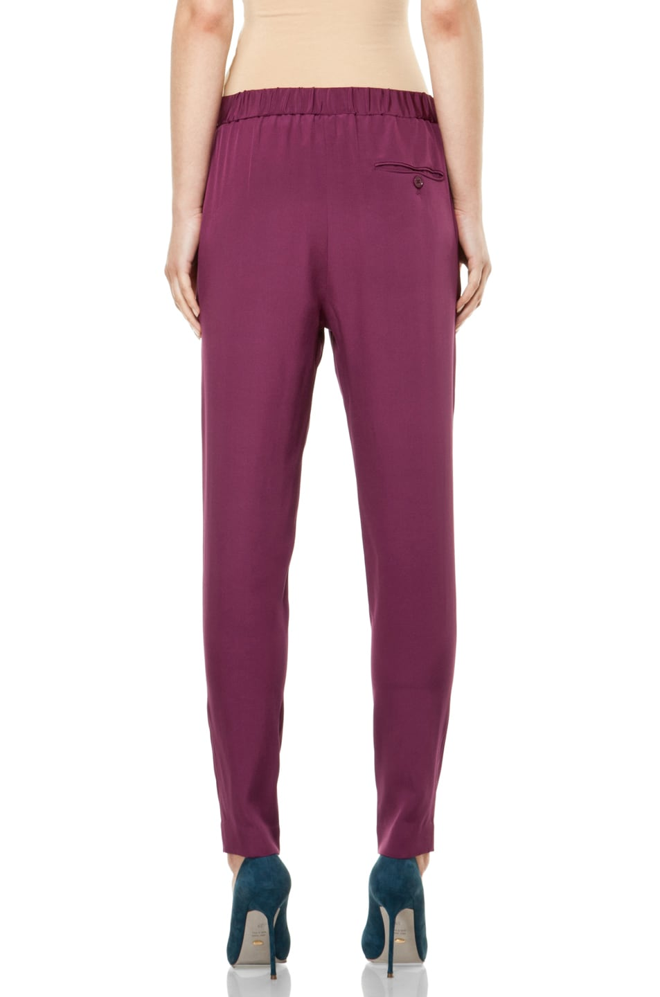 Image 4 of 3.1 phillip lim Draped Pocket Trouser in Berry