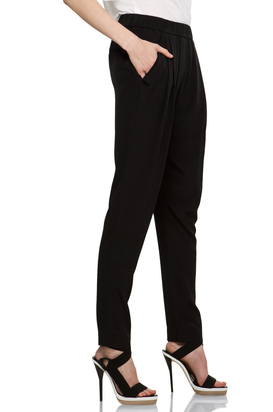 Image 3 of 3.1 phillip lim Draped Pocket Silk Trouser in Black