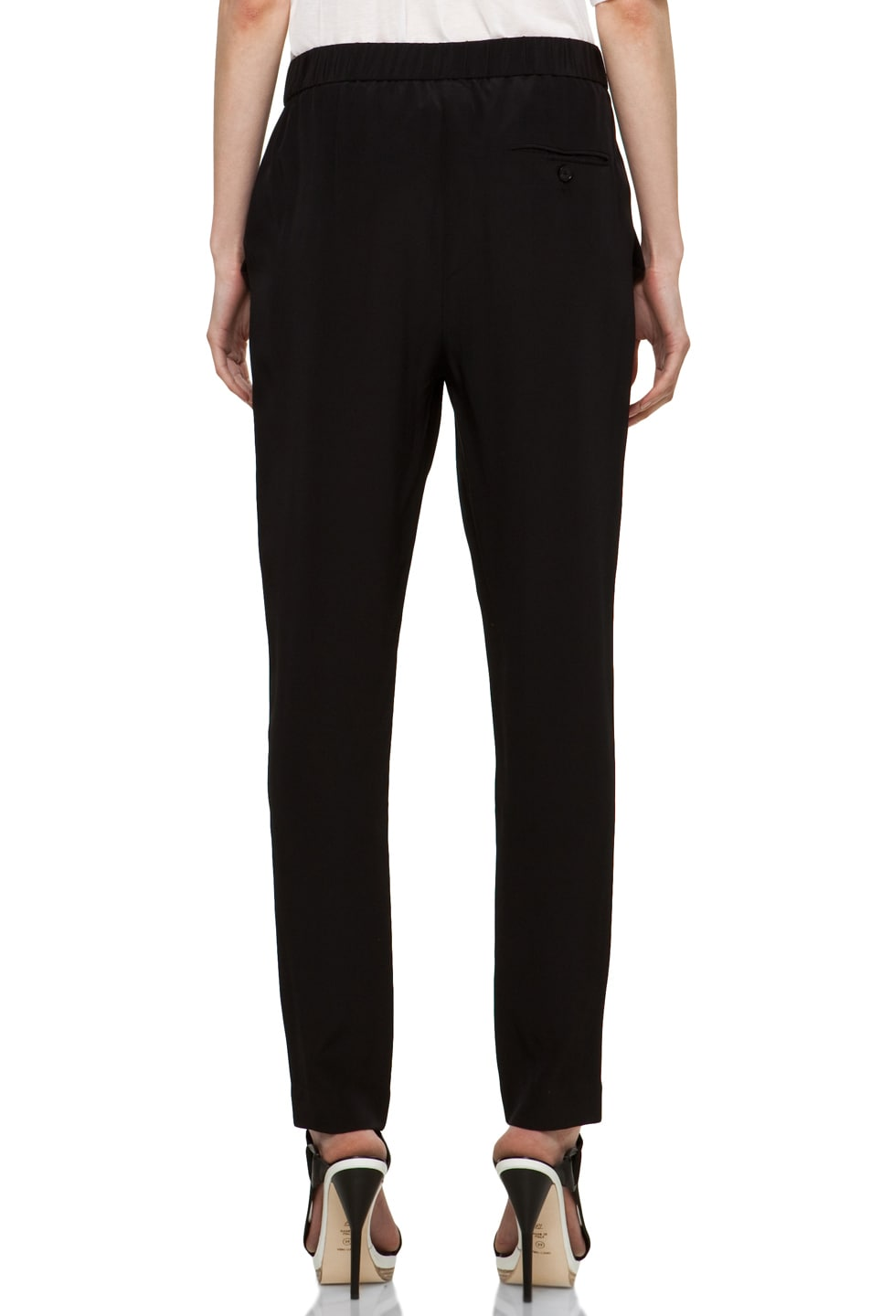 Image 4 of 3.1 phillip lim Draped Pocket Silk Trouser in Black