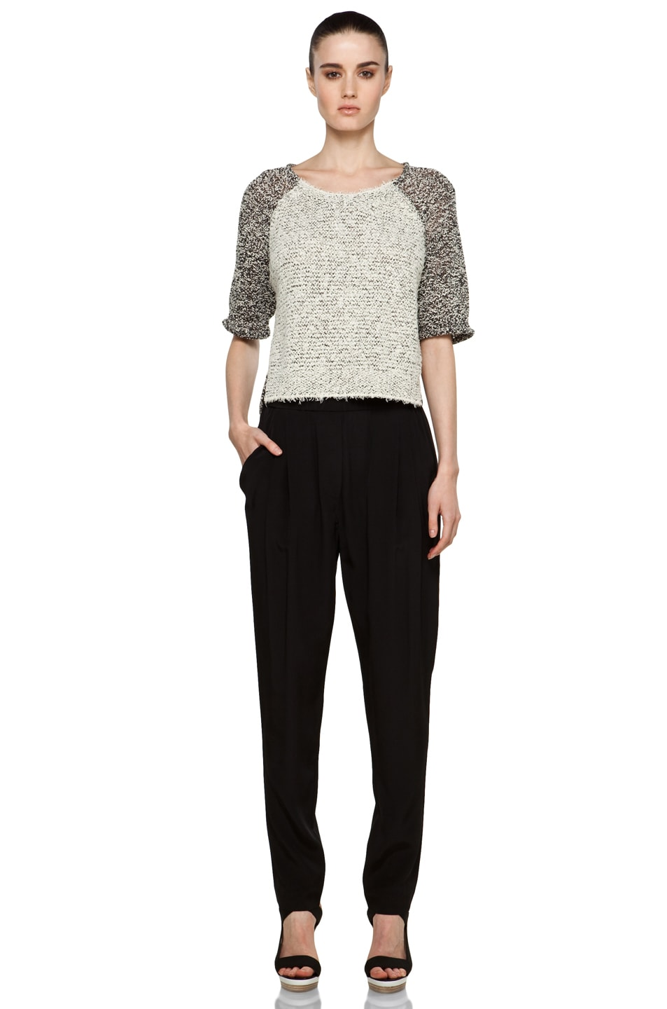 Image 5 of 3.1 phillip lim Draped Pocket Silk Trouser in Black
