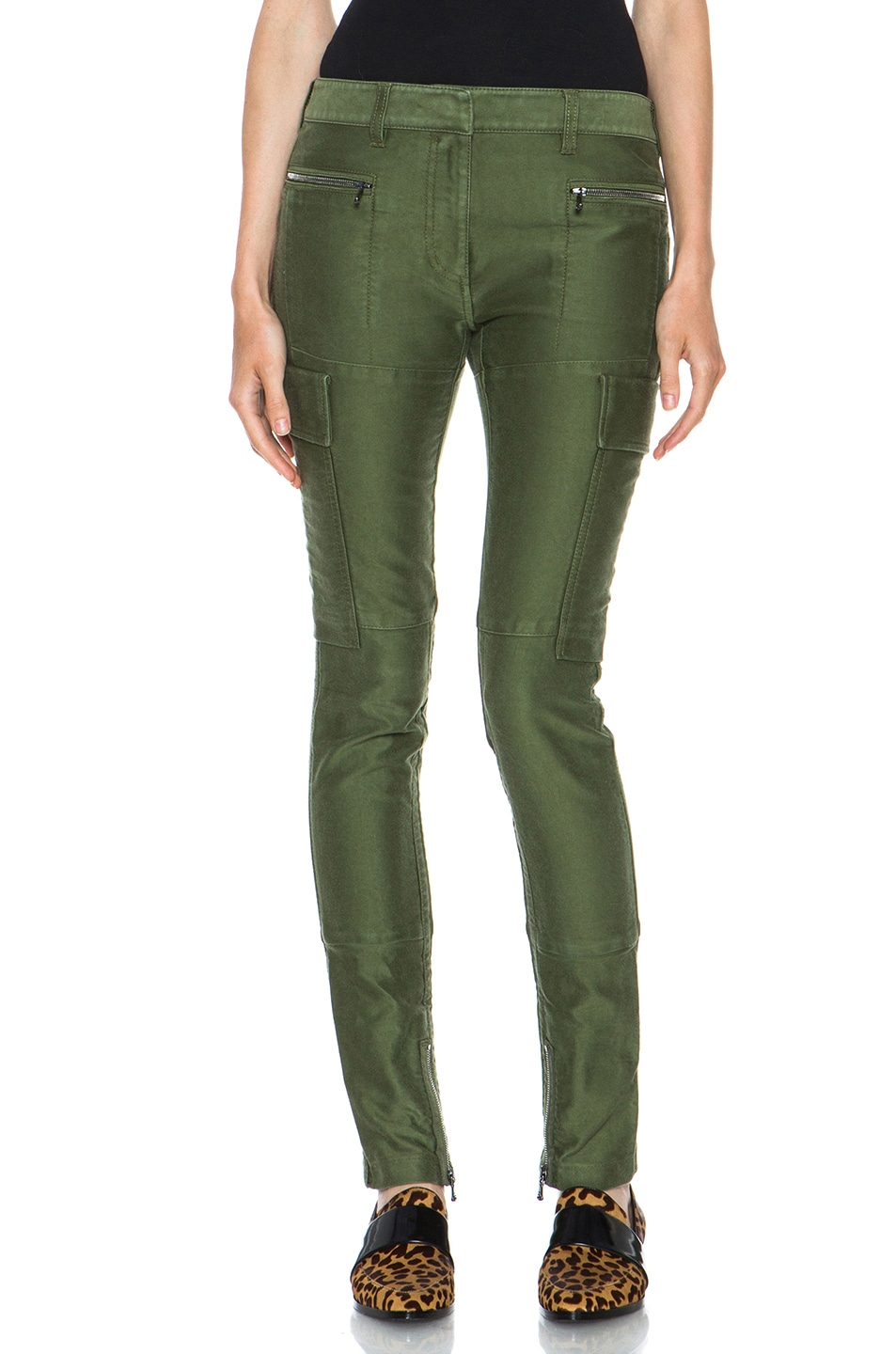 Image 1 of 3.1 phillip lim Skinny Cargo Cotton Pant in Army Green