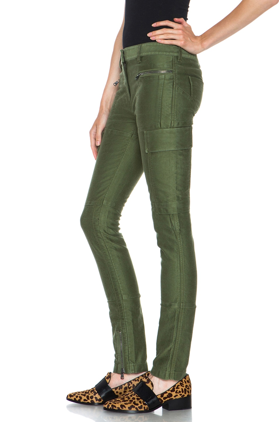 Image 2 of 3.1 phillip lim Skinny Cargo Cotton Pant in Army Green