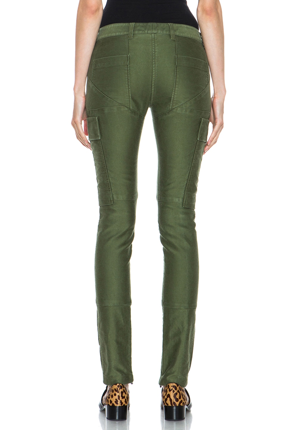 Image 4 of 3.1 phillip lim Skinny Cargo Cotton Pant in Army Green