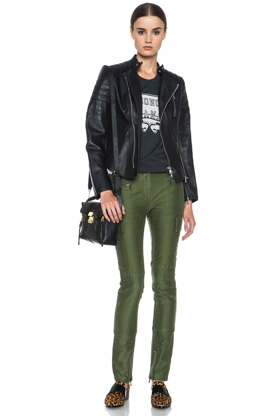 Image 5 of 3.1 phillip lim Skinny Cargo Cotton Pant in Army Green