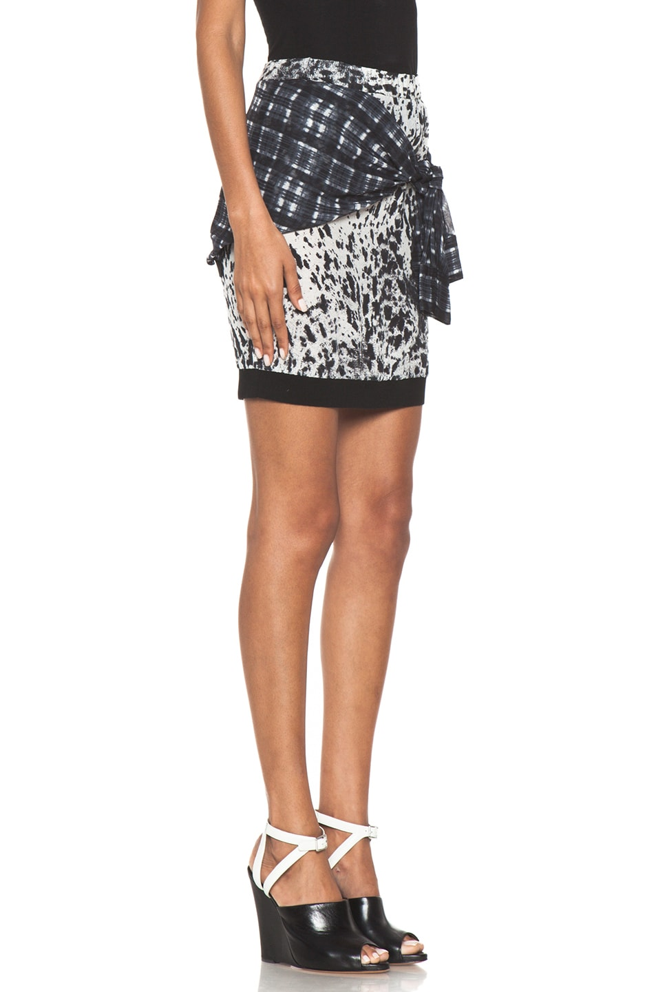 Image 3 of 3.1 phillip lim Spotted Pony Print Skirt with Shirt Print in Antique White