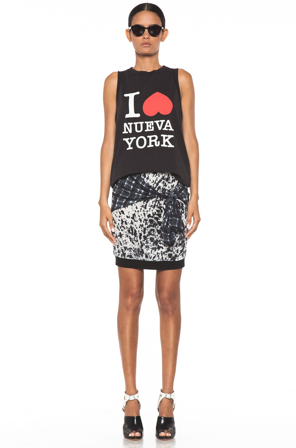 Image 5 of 3.1 phillip lim Spotted Pony Print Skirt with Shirt Print in Antique White