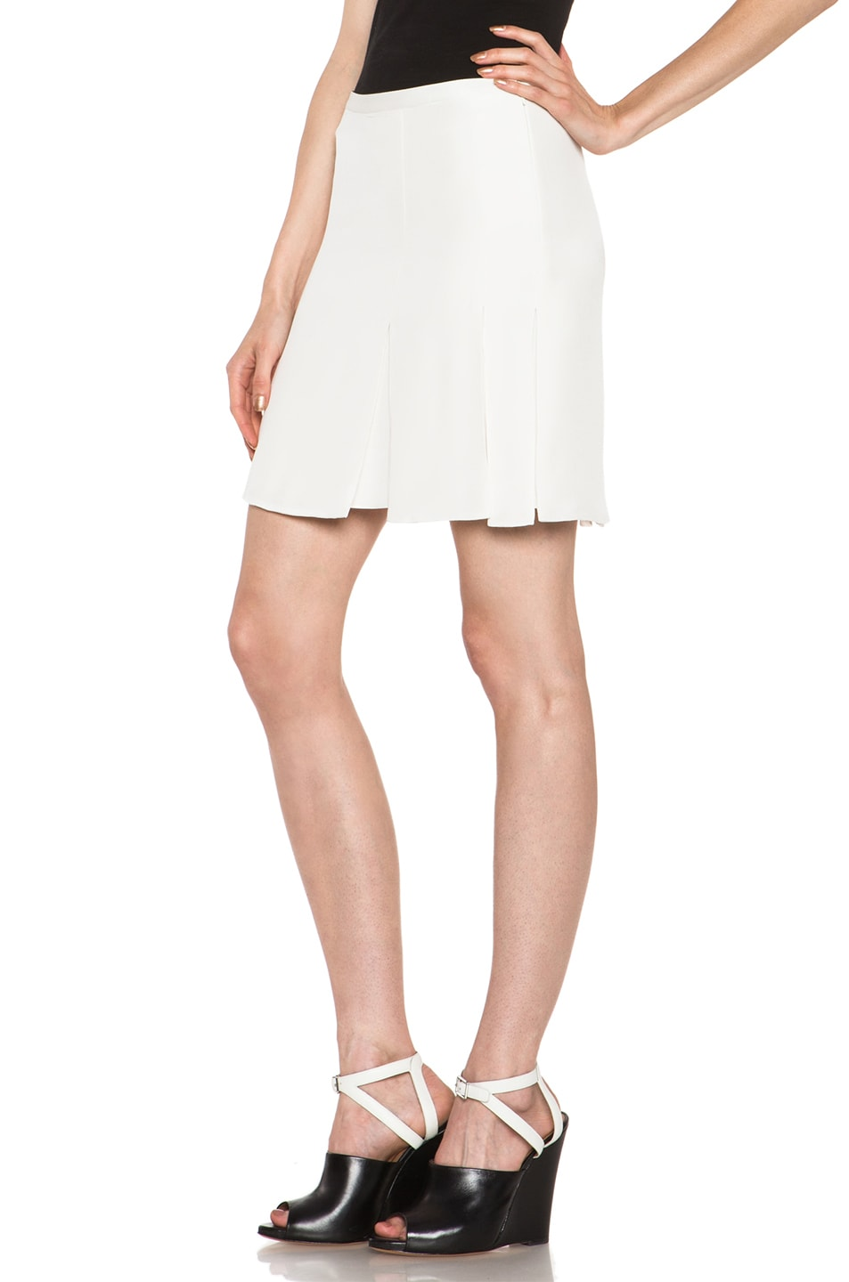 Image 2 of 3.1 phillip lim Tromploeil Pleat Skirt in Antique White