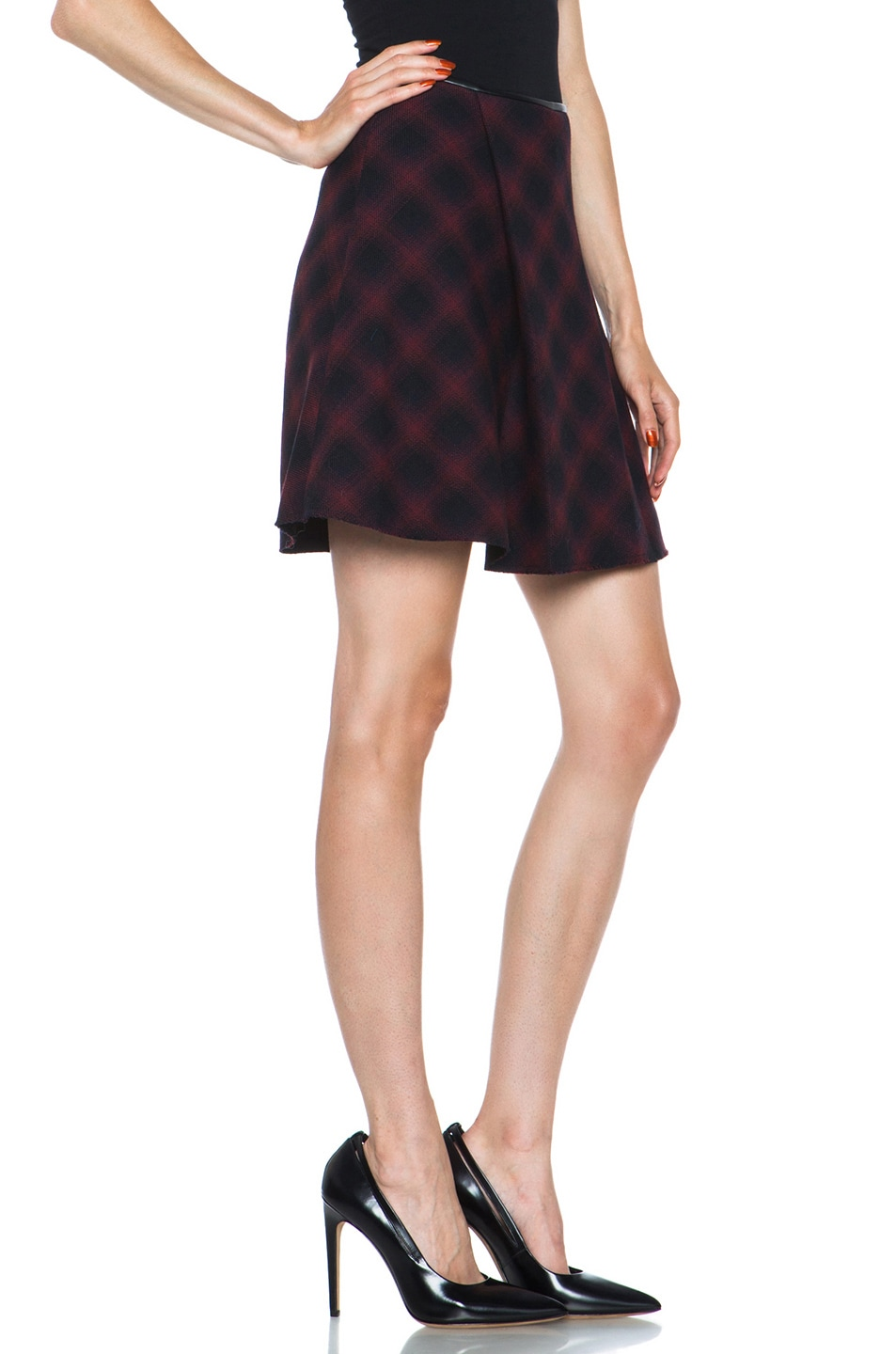 Image 3 of 3.1 phillip lim Sculpted Flare Wool-Blend Skirt in Navy Multi