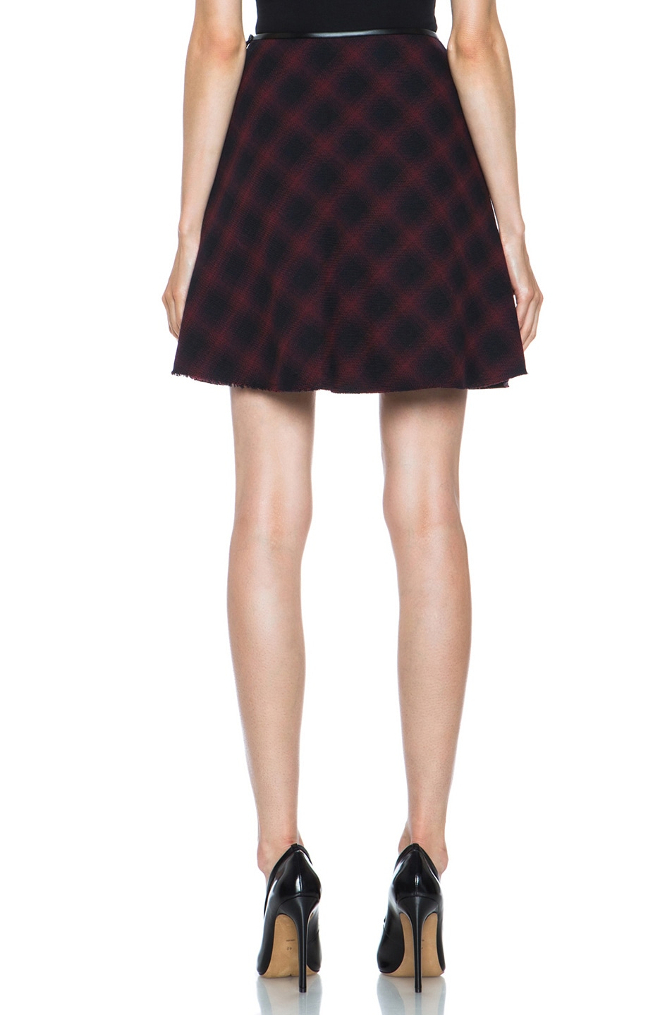 Image 4 of 3.1 phillip lim Sculpted Flare Wool-Blend Skirt in Navy Multi