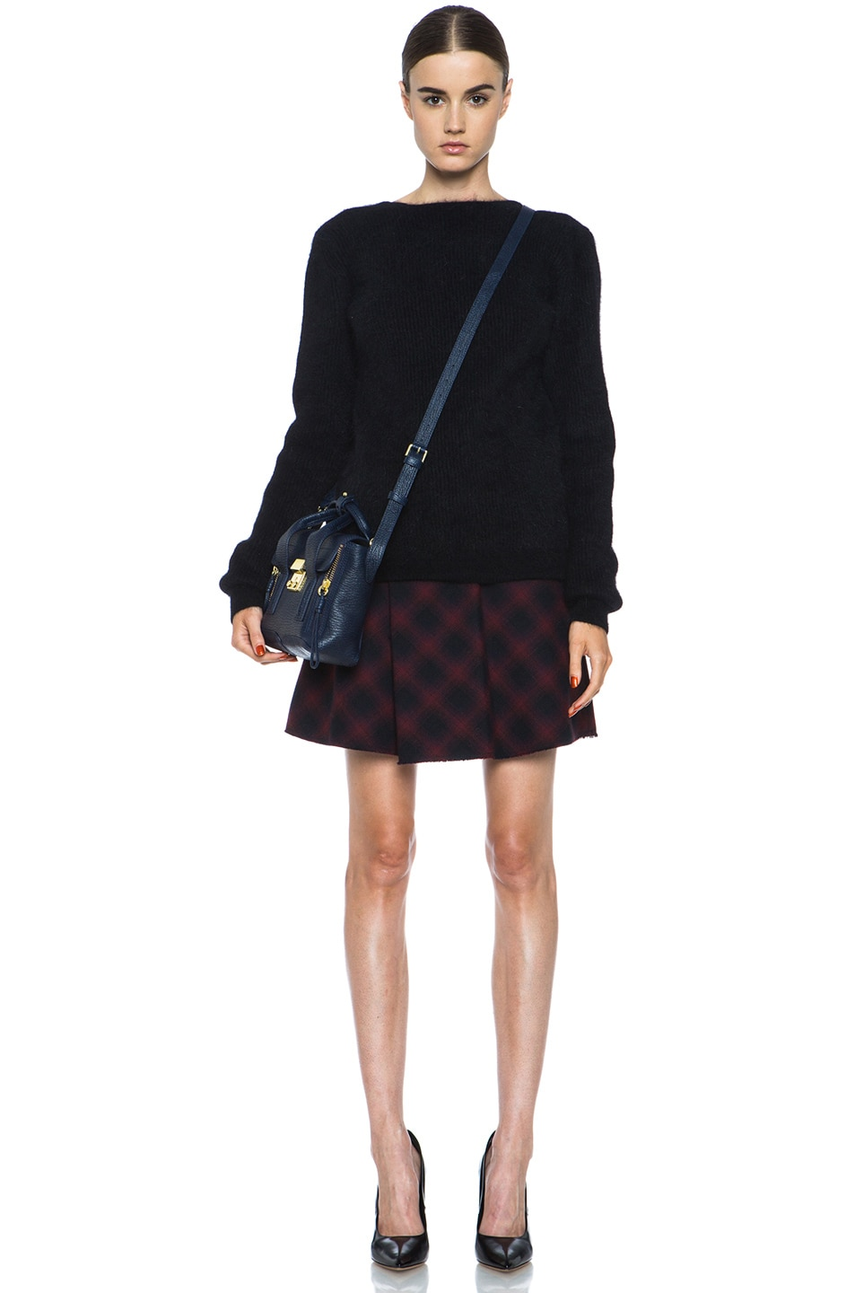 Image 5 of 3.1 phillip lim Sculpted Flare Wool-Blend Skirt in Navy Multi