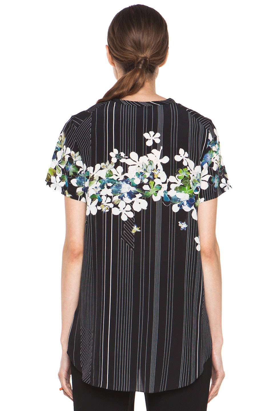 Image 4 of 3.1 phillip lim Overlapped Side Tee in Black