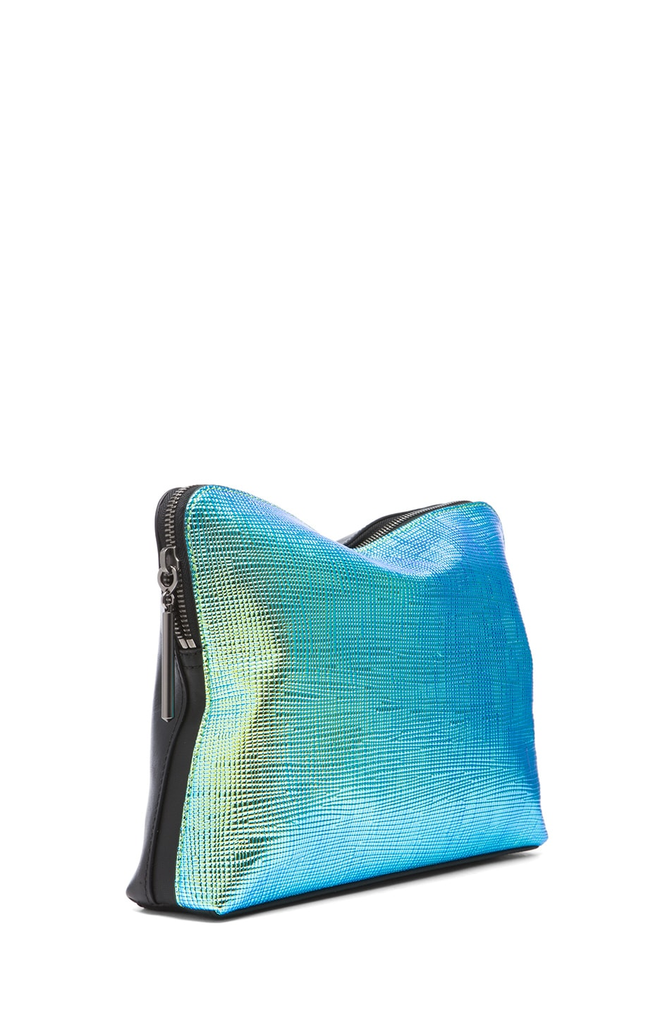 Image 3 of 3.1 phillip lim 31 Minute Cosmetic Bag in Blue-Green & Black