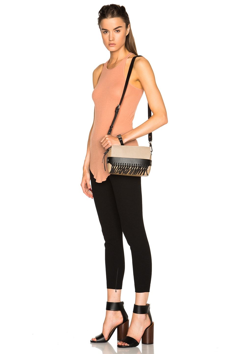 Image 2 of 3.1 phillip lim Bianca Fringe Crossbody Bag in Almond Beige