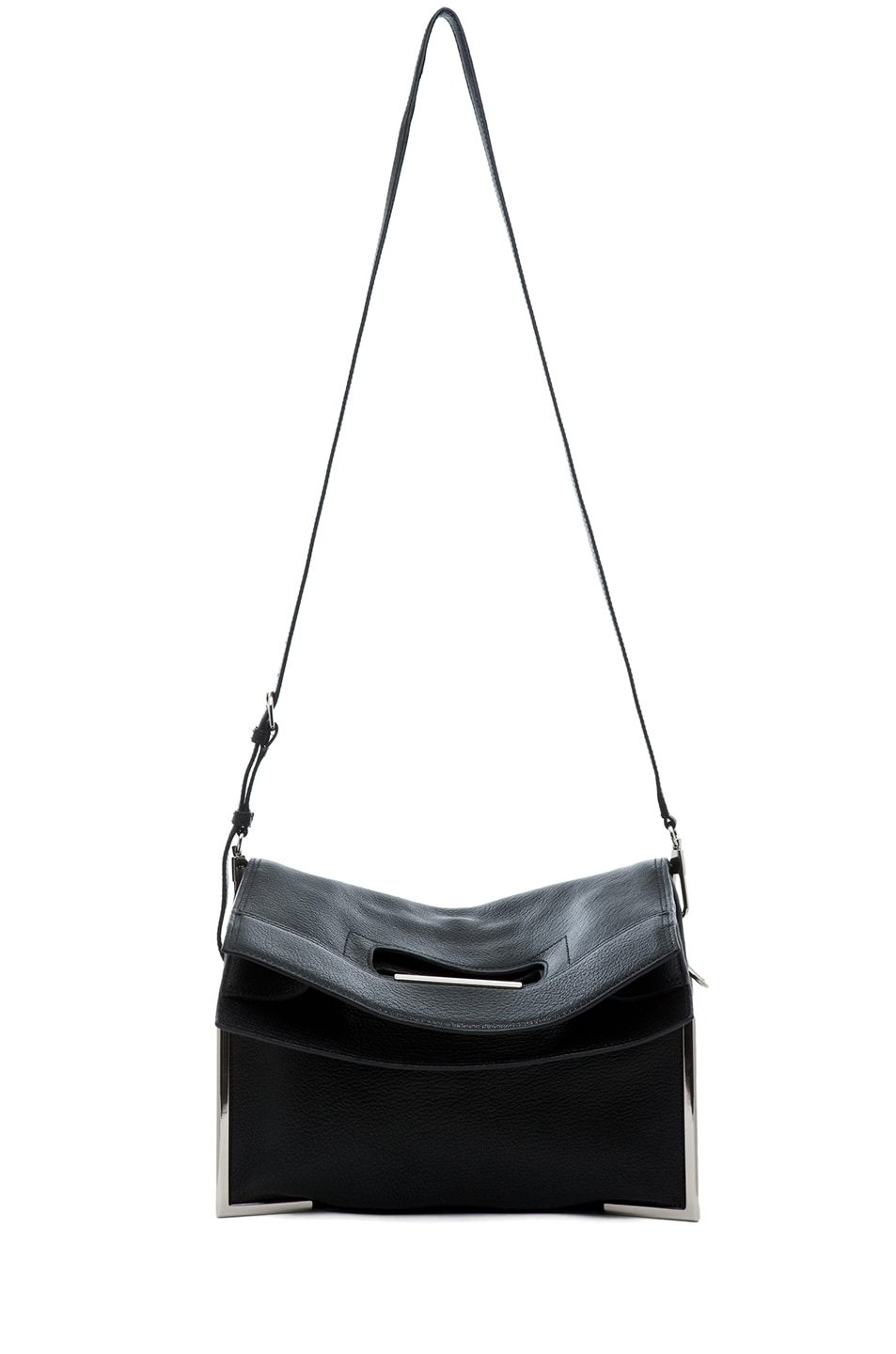 Image 6 of 3.1 phillip lim Lux Grain Convertible Cut Out Handle Tote in Black