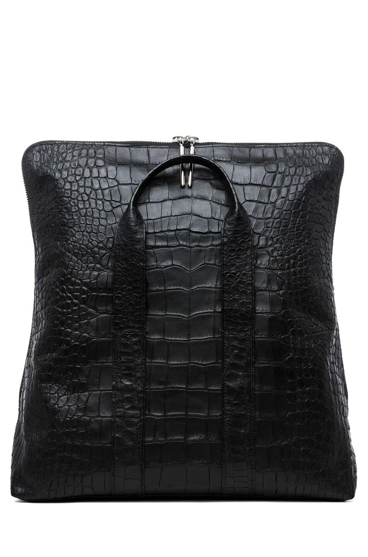 Image 5 of 3.1 phillip lim Matte Crocodile Embossed 31 Hour Bag in Black