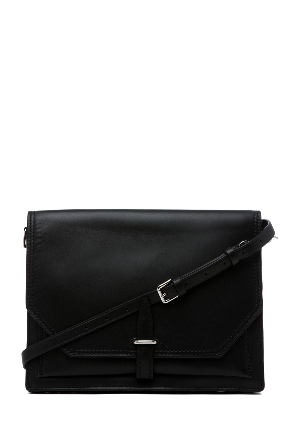 Image 1 of 3.1 phillip lim Polly Double Compartment Crossbody in Black