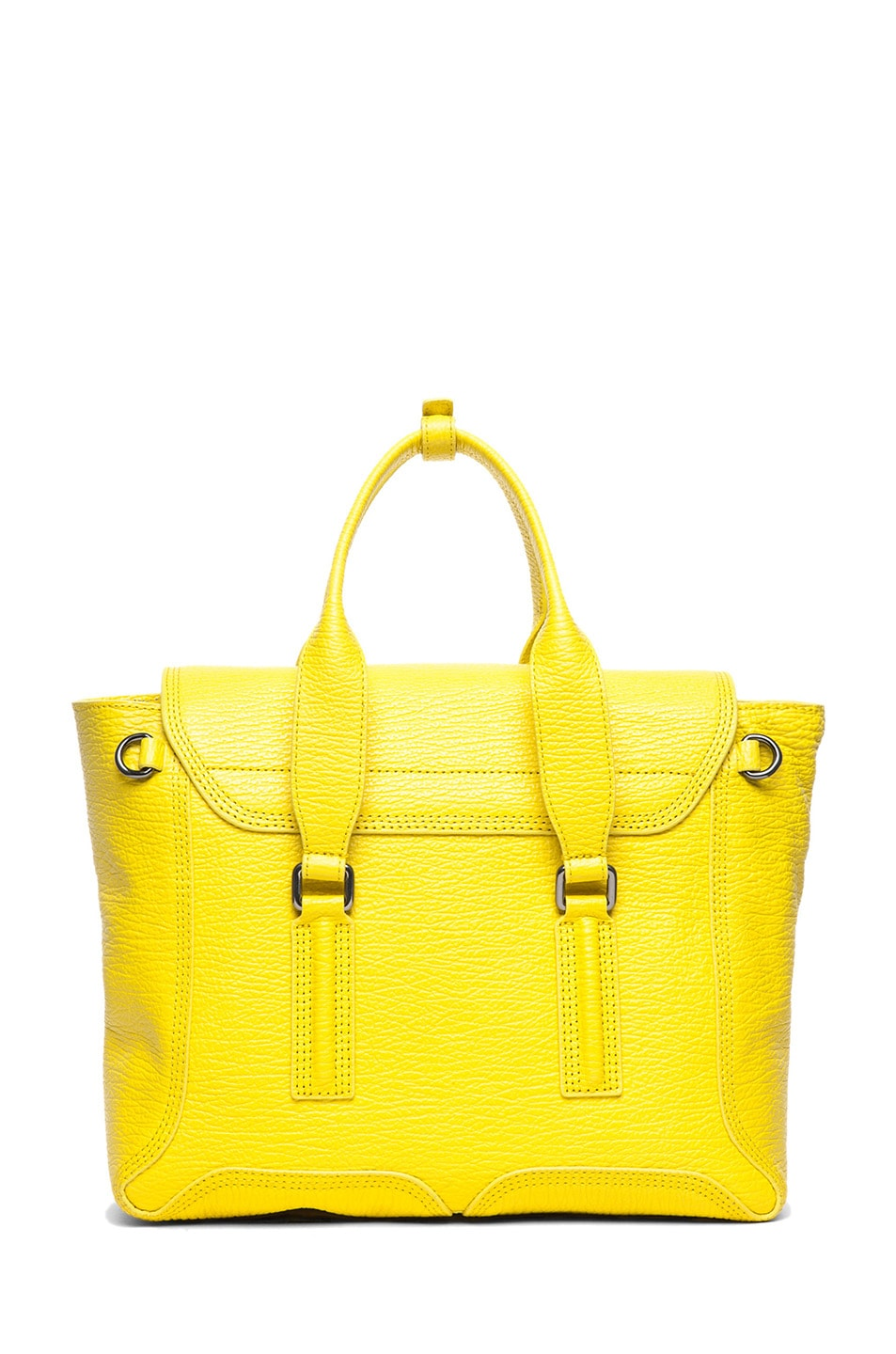 Image 2 of 3.1 phillip lim Medium Pashli Shark Embossed Satchel in Electric Yellow