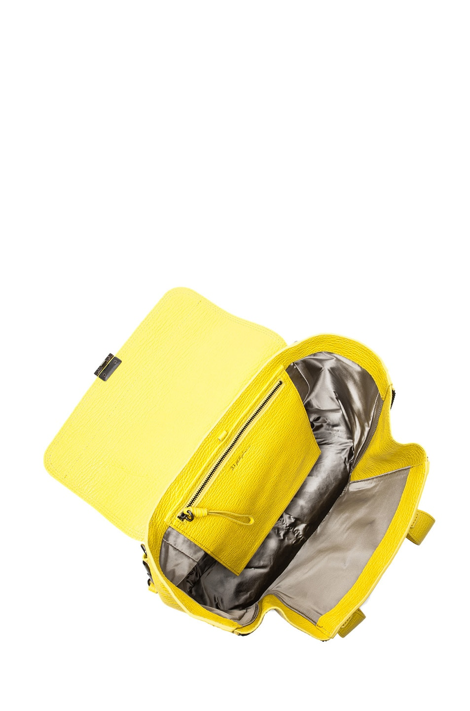 Image 4 of 3.1 phillip lim Medium Pashli Shark Embossed Satchel in Electric Yellow