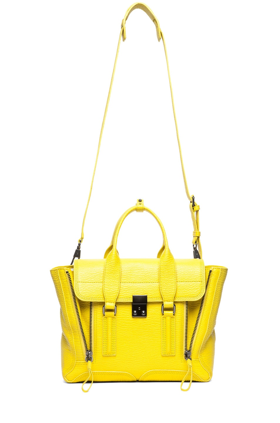 Image 5 of 3.1 phillip lim Medium Pashli Shark Embossed Satchel in Electric Yellow