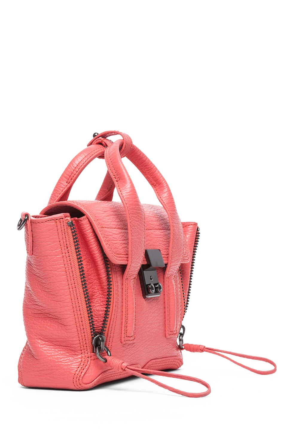 Image 3 of 3.1 phillip lim Mini Pashli Shark Embossed Satchel in Coral