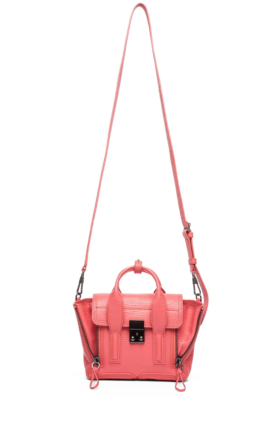 Image 5 of 3.1 phillip lim Mini Pashli Shark Embossed Satchel in Coral