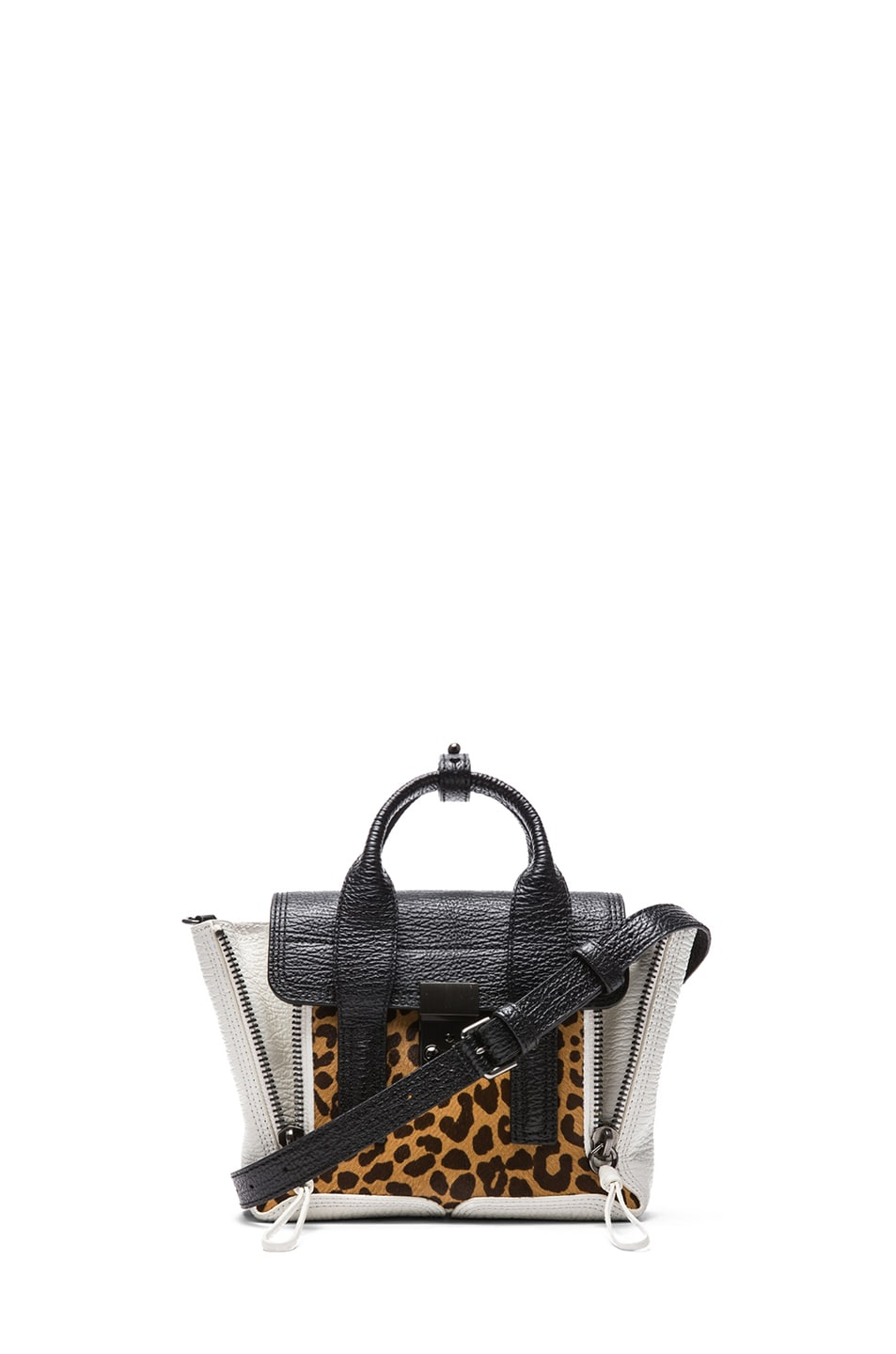 Image 1 of 3.1 phillip lim Mini Pashli Satchel in Natural Leopard