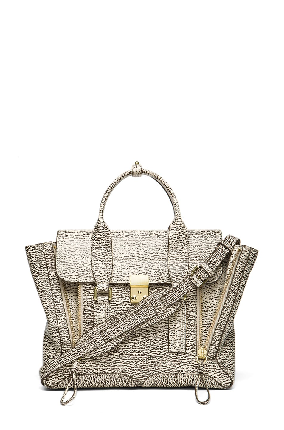 Image 1 of 3.1 phillip lim Medium Pashli Trapeze in Antique White & Military