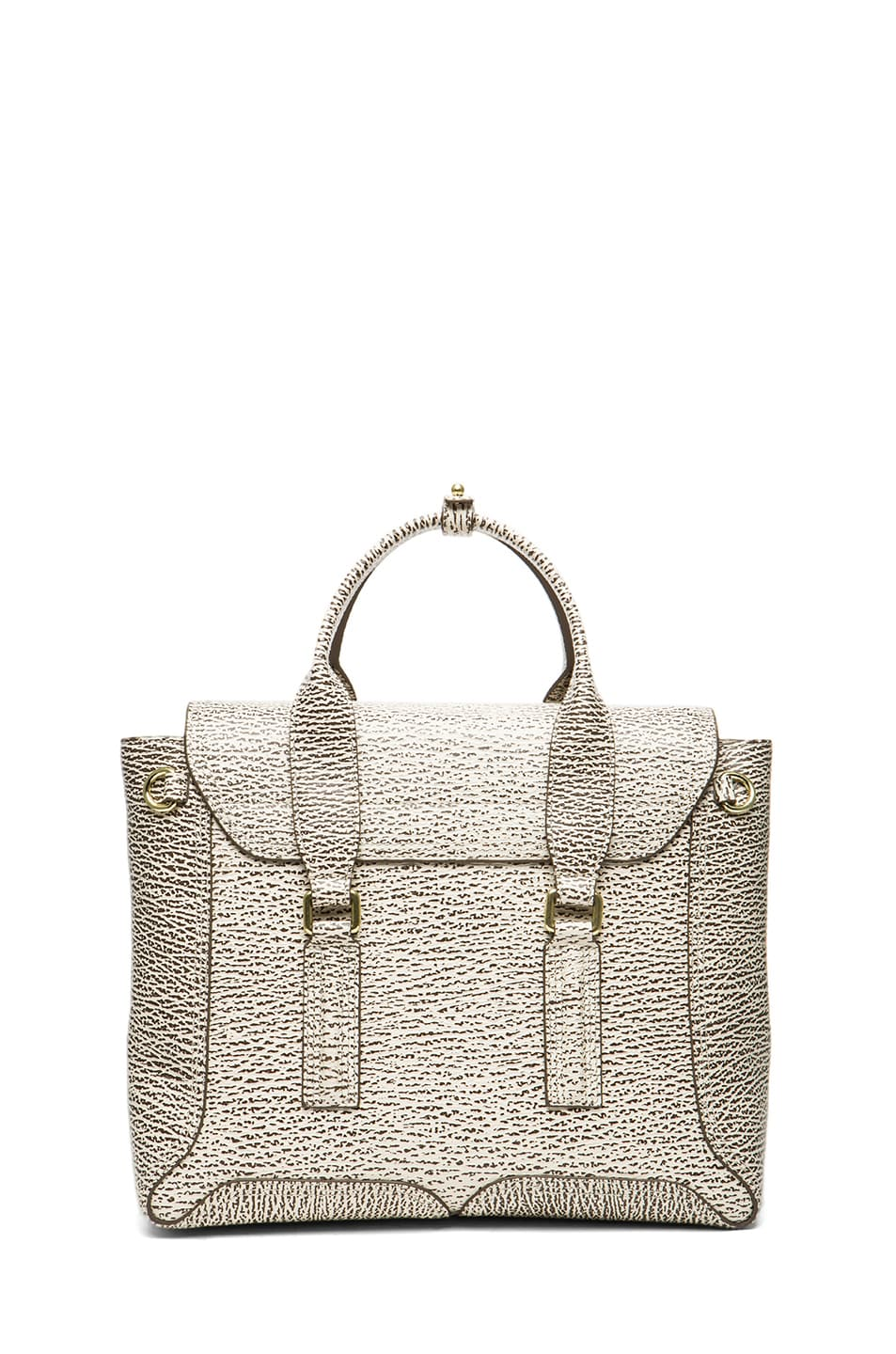 Image 2 of 3.1 phillip lim Medium Pashli Trapeze in Antique White & Military